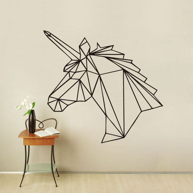 Art G 233 Om 233 Trique Licorne Wall Sticker Vinyle Cheval Mignon