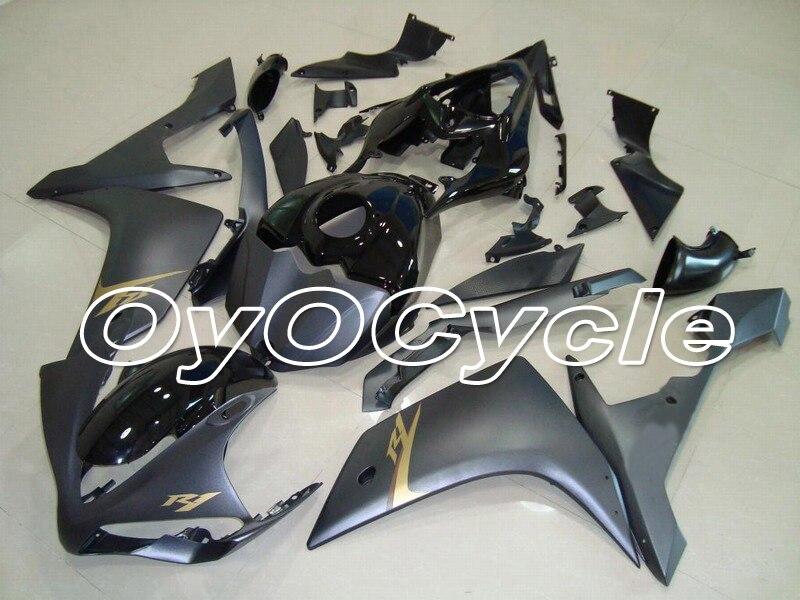 Pour Yamaha 07-08 YZFR1 YZF-R1 YZF R1 Kit de carrosserie carénage moto ABS Injection plastique 2007 2008 gris
