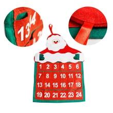 Новогодние украшения с дедом морозом Клаусом календарь креативный календаром Рождественский лось Адвент календарь новое поступление