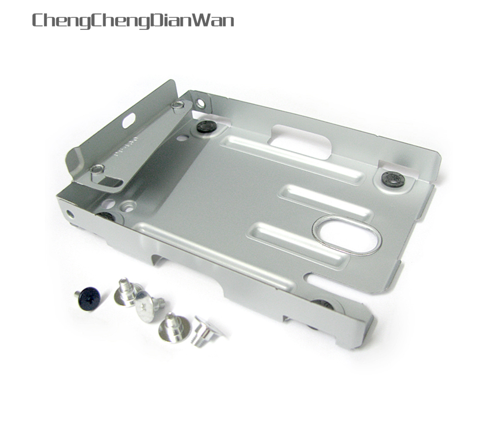 ChengChengDianWan High Quality for PS3 Super Slim Hard Disk Drive HDD Mounting Bracket Caddy + Screws CECH-400x Series 2sets/lot
