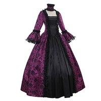 Georgiano Rievocazione Gotico Vittoriano Dress Prom Abito Theater Abbigliamento Donna