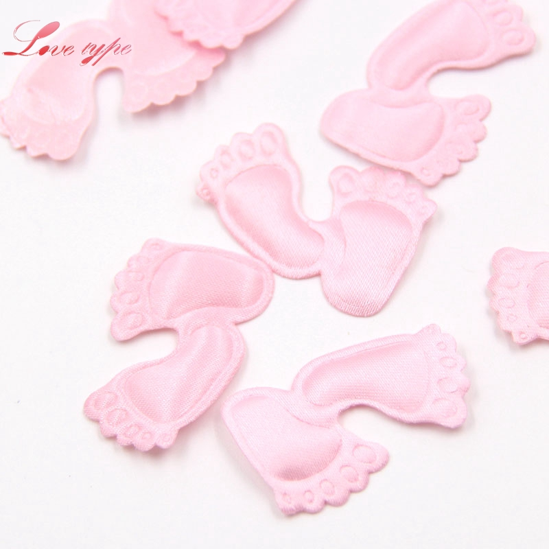 100PCS/Lot Pink&Blue Cloth DIY Cute Baby Feet Confetti For Home Kids Birthday Party Table Decoration Baby Shower Supplies ...