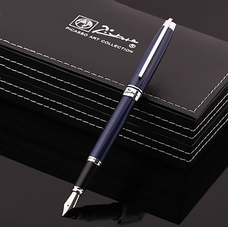 Picasso 912 Daphne Pimio Metal Fountain Pen Iridium Fine Nib 0.5mm Blue/Black Ink Pen Gift Box Optional for Business Office стоимость
