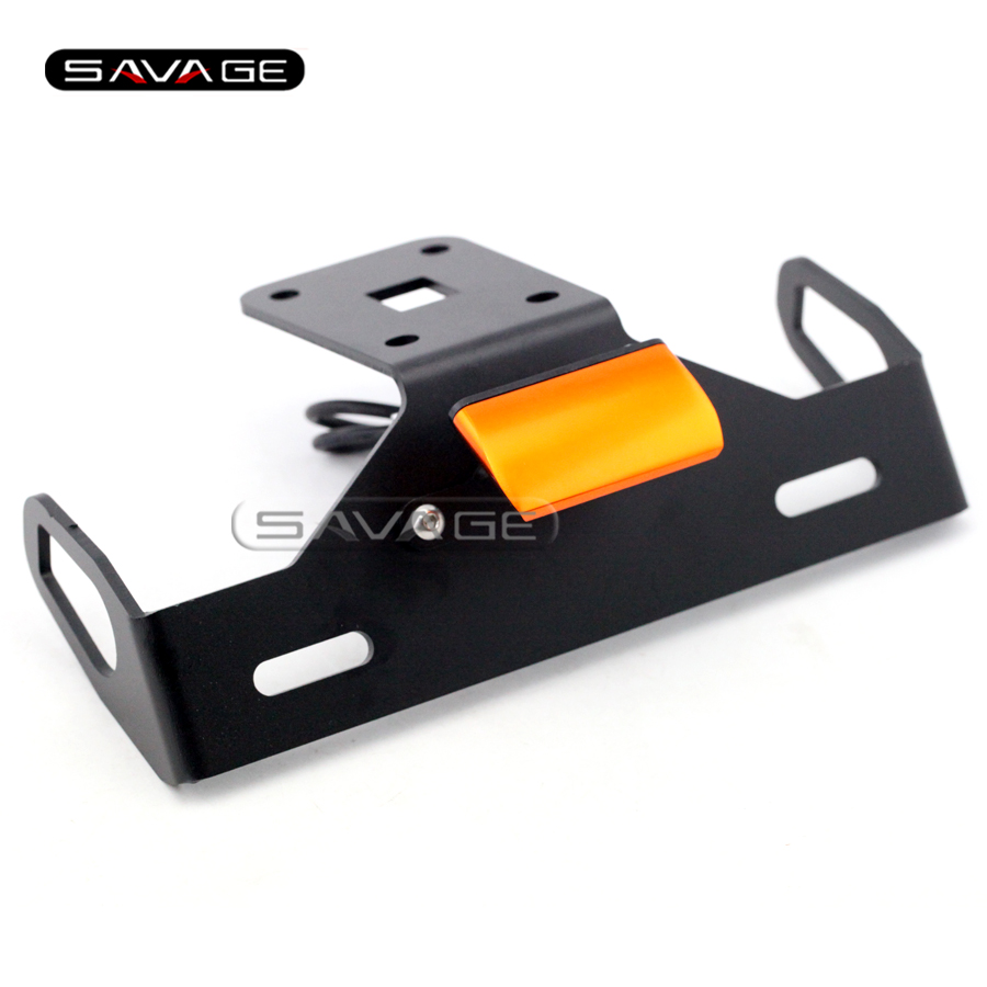 For KAWASAKI Z1000 2014 2015 2016 Orange Motorcycle Tail Tidy Fender Eliminator Registration License Plate Holder Bracket LED motorcycle tail tidy fender eliminator registration license plate holder led light for kawasaki ninja 1000 ninja1000 2011 2015
