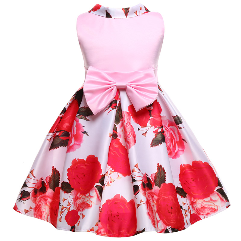 Girl floral princess party dress baby long sleeve dress wedding birthday children clothing 3 4 5 6 7 8 9 10 years girls clothes