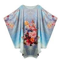 100% Silk Satin Dress Natural Pure Silk Women Dress Summer New Desigual Plus Size Flower Printed Pattern House