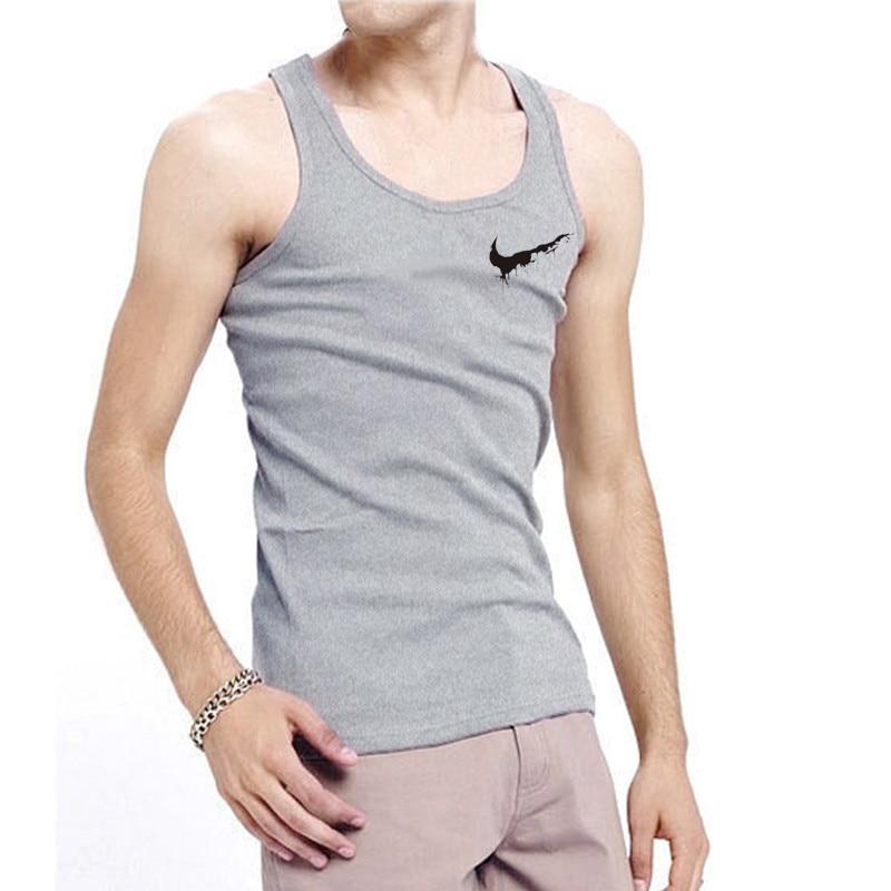 2018 New Brand Vest Print Bodybuilding Fitness Stringer Men   Tank     Top   Gym Sportswear Wear Vest Undershirt   Tank     Tops