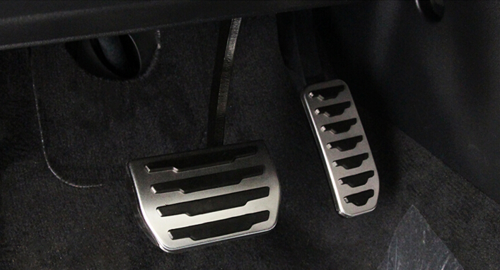 No Drilling 2pcs Fuel Gas Brake Foot Pedal Pad Plate Kit Set AT For Land Rover