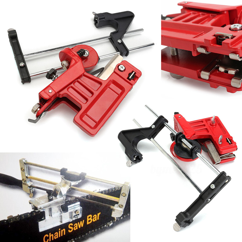 Universal Chainsaw Chain File & Guide Sharpener Grinding Guide Garden Lawn Mower Chainsaw Sharpner Grinding Guide Tools