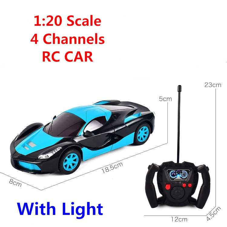 1:20 Scale 4 channel RC Cars with light Collection Radio Controlled Cars Remote Control Toys For Boys Girls Kids Gifts