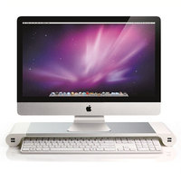 Aluminum Alloy Notebook Portable Computer Monitor Stand Desktop Computer Monitor Stand Non slip Stand Holder with Charging usb