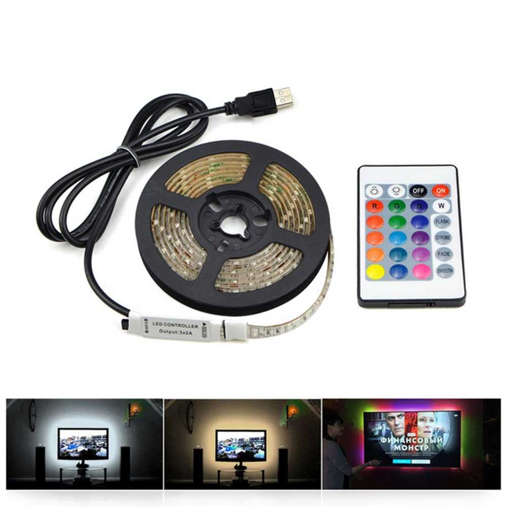 USB Power LED Lamp Strip RGB Lights for Kitchen DIY TV PC Screen Backlight White/ Warm White LED Strip Lamp for Cabinet Lights