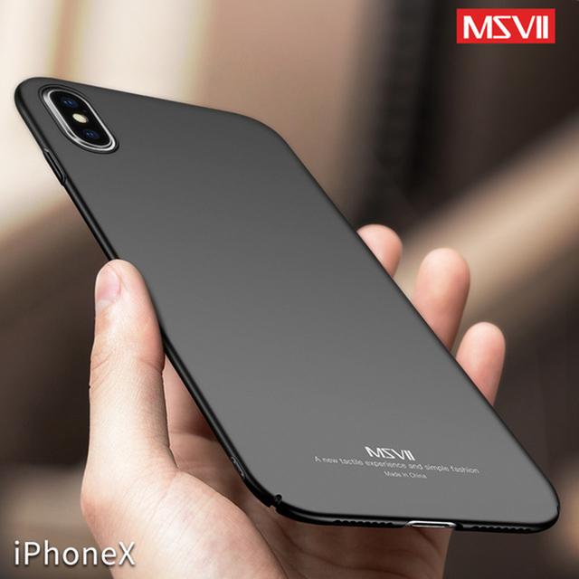 low priced 48f21 db819 US $4.19 |Original Msvii for iPhone X Ultra Thin Slim Case Business Super  Thin For iPhonex Case for Apple iPhone 10 Hard Cover Back-in Fitted Cases  ...