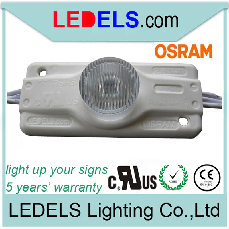 5years warranty,UL Listed CE ROHS Approved,2.8w 12V 250LM Osram led external light box led signage