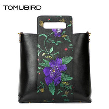 Tomubird   2017 new first layer of leather handbags Europe and the United States fashion shoulder Messenger bag