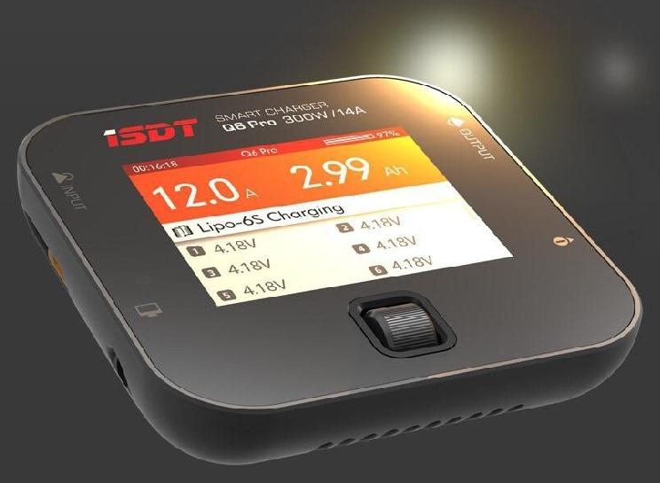 D'ISDT PORTANT SUR la Q6 Pro BattGo 300 w 14A Poche Lipo Équilibre de La Batterie Chargeur Intelligent Numérique Chargeur Pour RC Modèles De Rechange De BRICOLAGE partie
