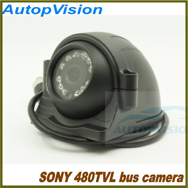 ФОТО mini Car  camera with 12PCS IR Leds Sony CCD 480TVL infrared waterproof Bus Security Camera for 1CH/2CH/4CH DVR