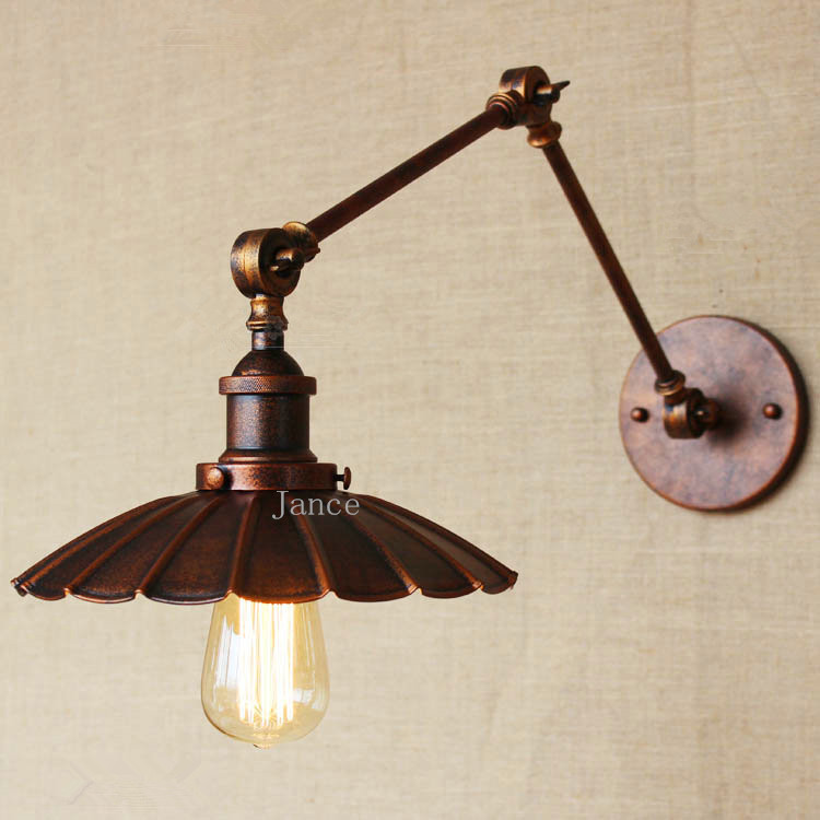 ФОТО Retro industrial innovation and innovation Retro nostalgia to do the old old - fashioned rust small umbrella modeling wall lamp