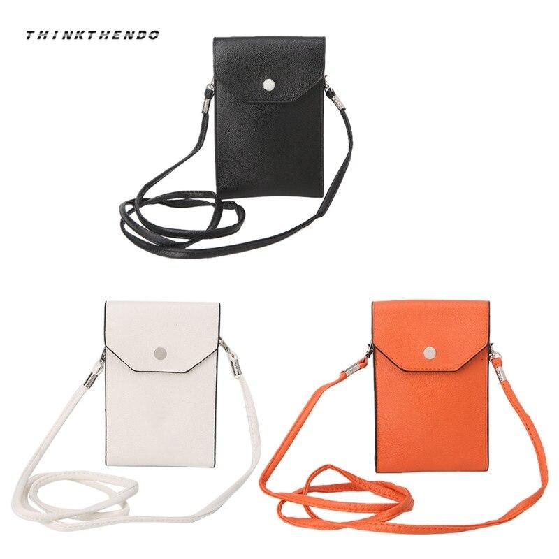 THINKTHENDO Universal New Fashion Women Mini Mobile Phone Shoulder Bag Pouch Case Crossbody Bags Purse 3 Colors