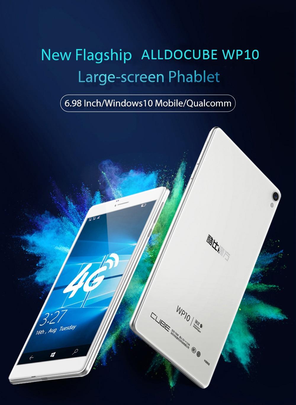 ALLDOCUBE WP10 6 98 Inch 4G LTE Phone Call Tablet Windows 10 Mobile Quad  Core 1 3GHz 2GB RAM 16GB Camera IPS Screen WiFi OTG GPS