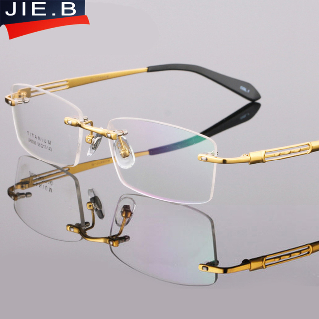 fb0743010cdb5b B Pure Titanium Brillen Frame Brillen Mannen Randloze Bril Mens Optische  Brillen Eyewear Frames