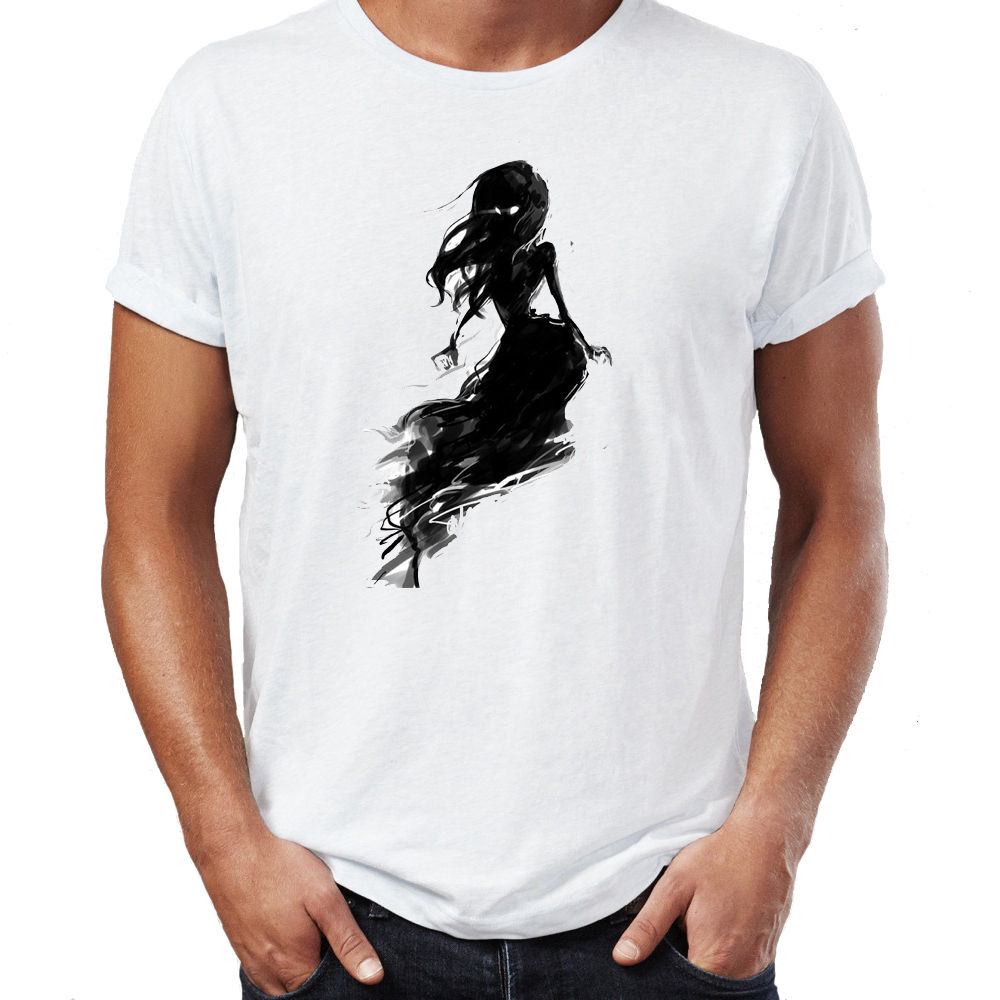 Beautiful ghost girl spooky witch costume halloween mens t Girl t shirts design