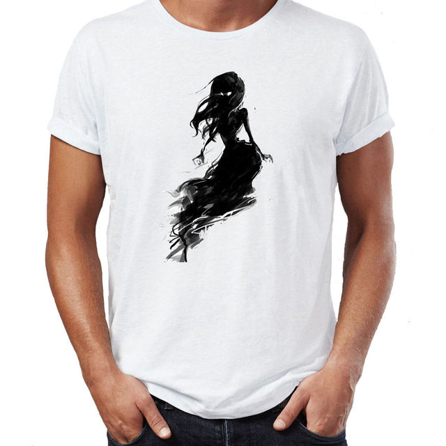 Beautiful ghost girl spooky witch costume halloween mens t for Top 10 t shirt designs