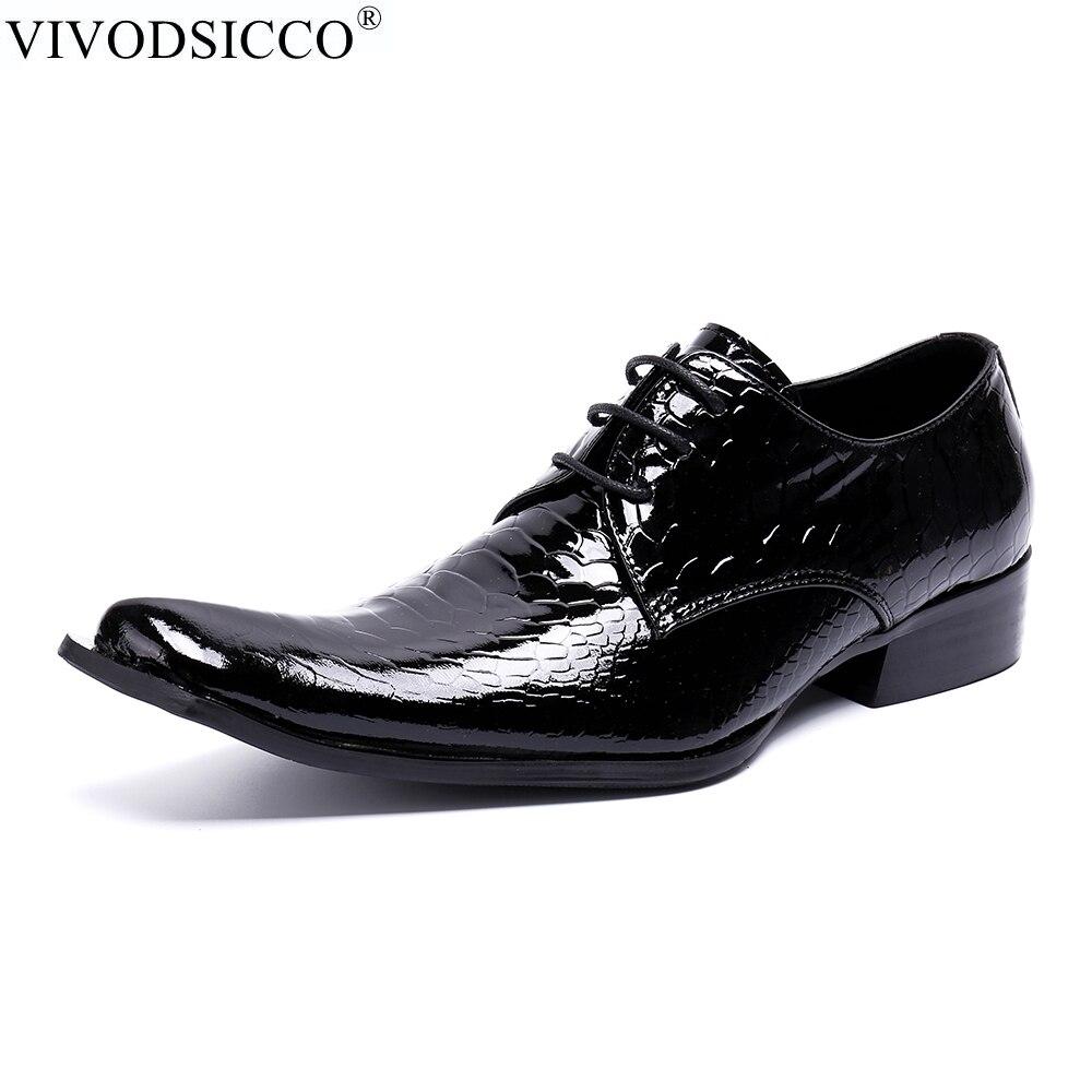 1f9850fd527 Hommes Vivodsicco Pointu Mariage Mocassin Homme De Bout Mocassins Cuir Noir  Oxfords Luxe Italiennes Chaussures Robe En Véritable HdYWr1dS