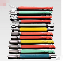 High carbon alloy steel forged chef special food carving carved pull pull knife set--12pcs/set
