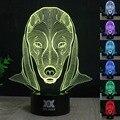 Faraón escort 2 color 7 que cambia la Lámpara de La Noche 3D Luz Bulbificación corazón ilusión visual LED para los niños de juguete de Navidad regalos Luz de La Noche