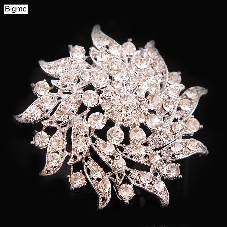Korean fashion high-end wreath brooch corsage female simple accessories bride wedding hand holding flower H1084