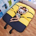 Large matelas Despicable me Single Double Bed Giant Minions Bed Mattress Cushion Plush Mattress Pad Tatami Cushion Beanbag