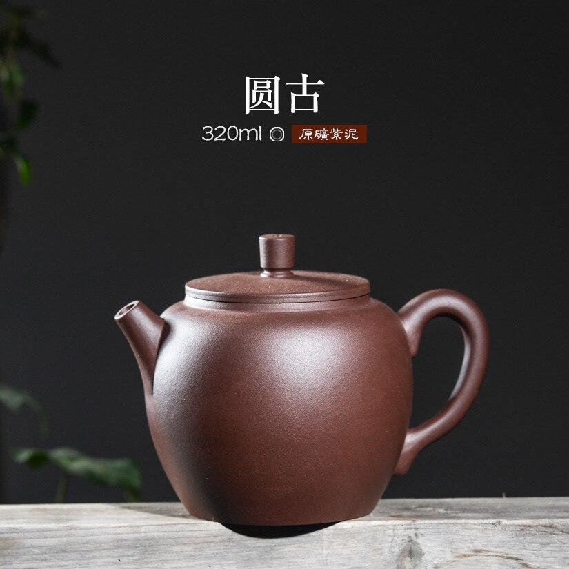 Yixing 원시 광석 주전자 정통 수제 보라색 점토 주전자 주전자 320 ml 도자기 주전자 teaset 선물 상자 무료 배송-에서찻주전자부터 홈 & 가든 의  그룹 1