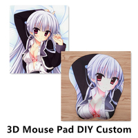 FFFAS 10 Pieces DIY Custom Silicon Mouse Pad 3D Breast Hip Wrist Rest MousePad Customized Made Sex Anime Mat Japan France Logo