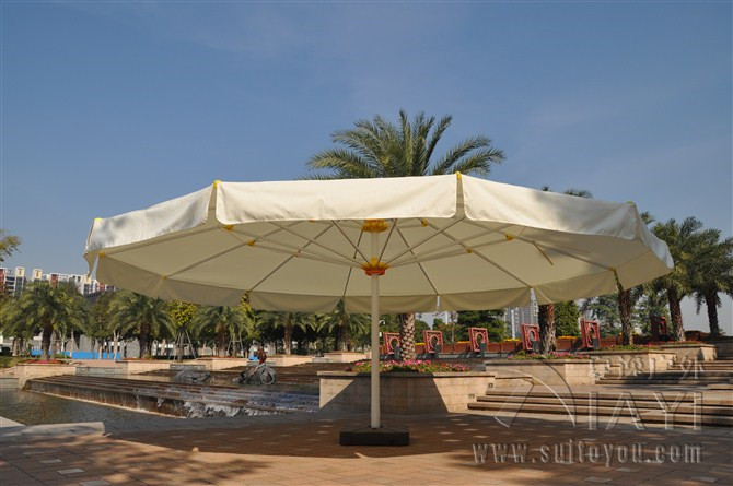 7 Meter Round Deluxe Big Garden Sun Umbrella Parasol Patio