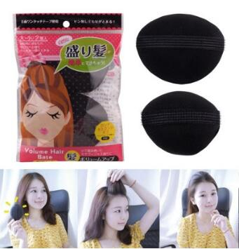 Acessórios de Cabelo Princesa Cabeça Fofo Heighten Cabelo Dispositivo Esponja Adesivo Preto Hair Care & Styling Tools Ha012 2 Pçs – Set