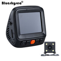 Blueskysea Dual Lens HD 2'' TFT LCD Screen Car Dash Camera 1296P 140 degree Video Recorder Support TF card Truck SUV