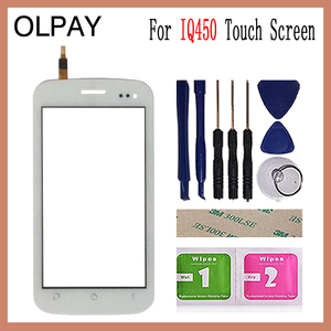 Image 1 - OLPAY 5.0 Touch Screen For Fly IQ450 IQ 450 Touch Screen Digitizer Panel Front Glass Lens Sensor Tools Adhesive+Wipes