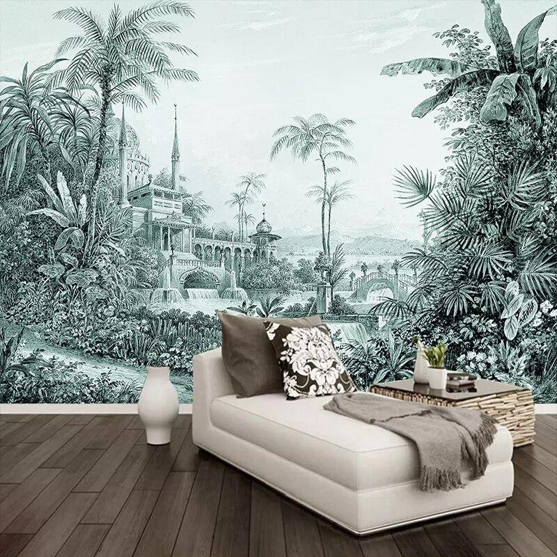 Custom Murals Wallpaper 3D Tropical Rain Forest Landscape Photo Wall Painting Living Room TV Sofa Bedroom Background Wall Decor