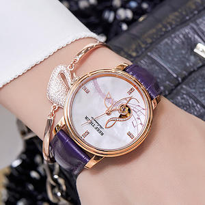 2020 Reef Tiger/RT Women Fashion Watches New Rose Gold Luxury Automatic Watches Leather Band relogio feminino RGA1582