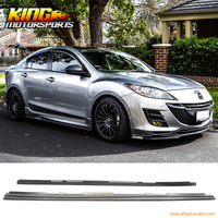 Fit 10 11 12 13 Mazda 3 Hatchback MS Style Urethane Side Skirts Unpainted PU USA
