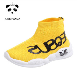 Image 3 - KINE PANDA 1 2 3 4 5 Years Old Baby Shoes Kids Sneakers for Girl Children Boys Sport Running Shoes Breathable Knitting Slip on