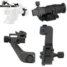 전술 폴리머 NVG 마운트 세트 나이트 비전 J 암 마운트 어댑터 헬멧 pvs14에 적합 Pulsar GS1X20 Hunting Rifle Sighting Scope