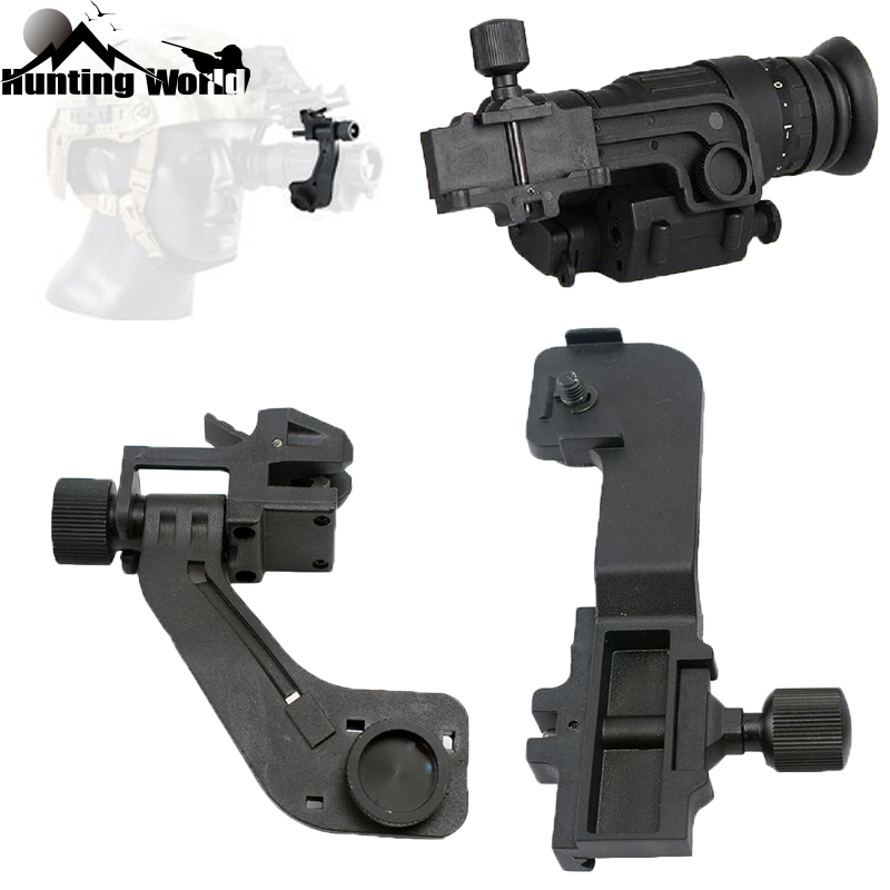 Tactical Polymer NVG Mount Set Night Vision J Arm Mount Adapter Fits Helmet Pvs14 Pulsar GS1X20 For Hunting Rifle Sighting Scope
