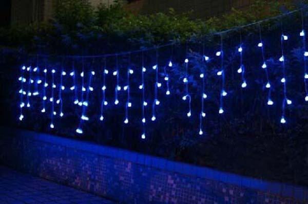 Blue LED Christmas Lights Guirlande Lumineuse Exterieur Wedding