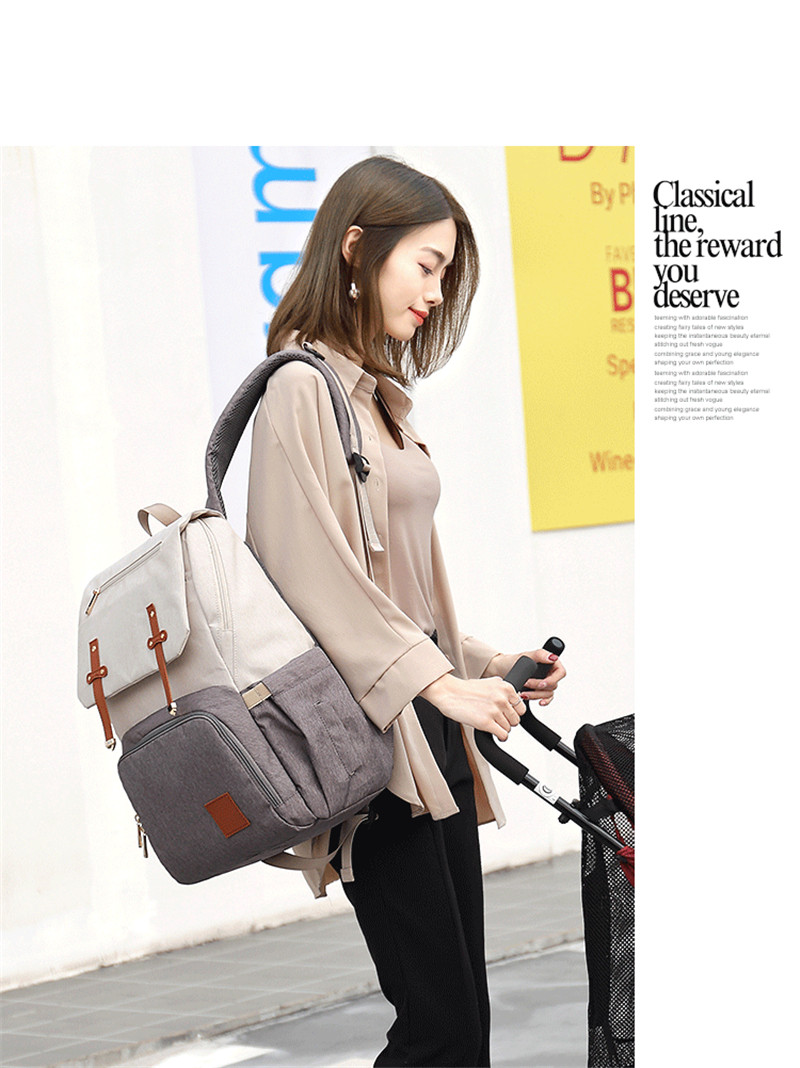 HTB10DRSaJfvK1RjSspfq6zzXFXaO New Fashion Women Backpack With USB Mummy Daddy Outdoor Travel Diaper Bags Pure Large Waterproof Nursing Bag Baby Care Nappy Bag