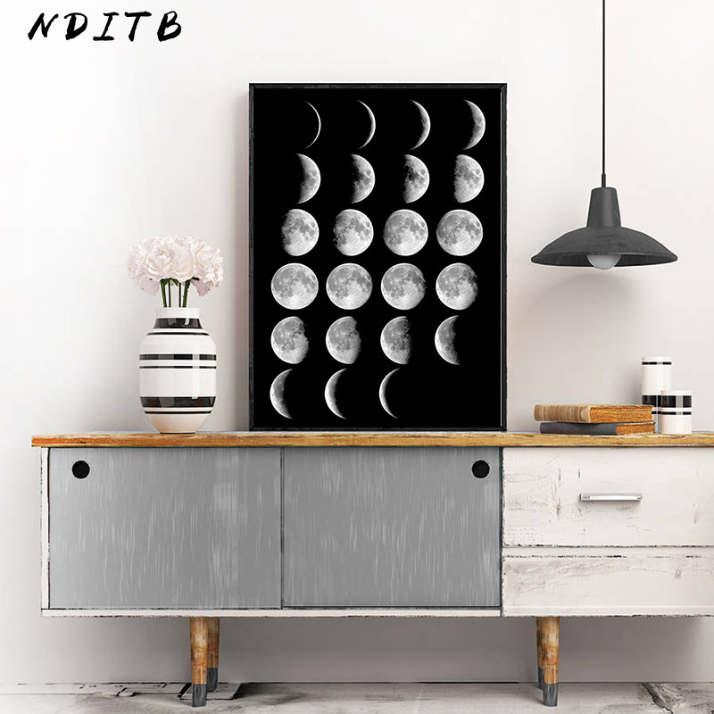 HTB10DRTXInrK1RjSspkq6yuvXXap Moon Phase Canvas Posters and Prints Minimalist Luna Wall Art Abstract Painting Nordic Decoration Pictures Modern Home Decor