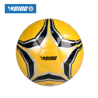Football Weing 2017 Hot Sale High Quality Size 4 Size 5 PU Soccer Ball Match Training Multiple colors available PVC bag mail