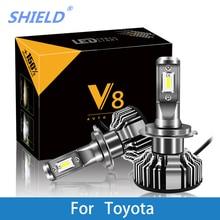 цена на 2 Pcs Car Headlight For Toyota Corolla Camry Yaris Prius Kluger RAV4 Venza H7 LED H4 LED H1 H7 H3 9005 6500K 8000LM CSP Chips