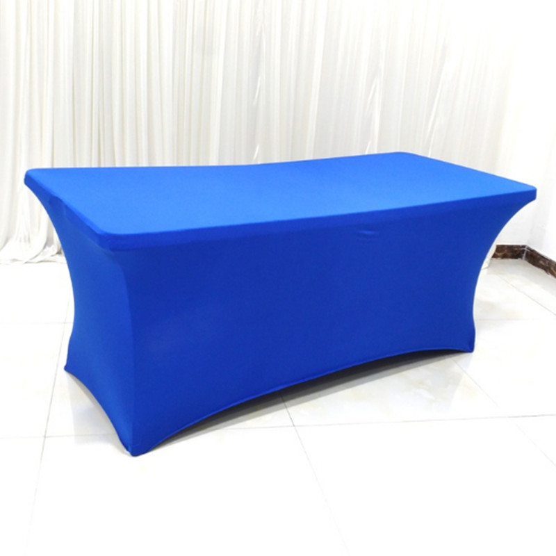 10PCS Rectangular Elastic Spandex Table Covers Lycra Stretch Long Bar Fitted Table Cloths Hotel Event Party